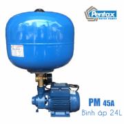 Máy bơm tăng áp Pentax PM 45A + Bình áp 24L