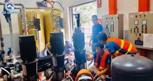 Bảo dưỡng máy bơm công nghiệp Grundfos